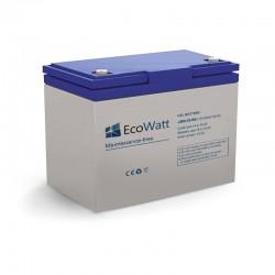 Batterie solaire gel 50ah 12v décharge Lente - EcoWatt
