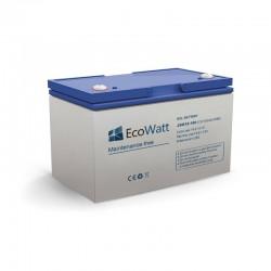 Batterie solaire gel 100ah 12v décharge Lente - EcoWatt