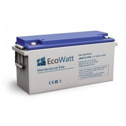 Batterie solaire gel 150ah 12v décharge Lente - EcoWatt