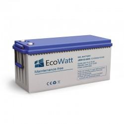 Batterie solaire gel 200ah 12v décharge Lente - EcoWatt