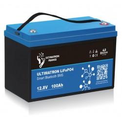 Batterie Lithium Ultimatron 12V-100Ah LiFePO4 Fer-phosphate BMS 12.8V Bluetooth 4.0