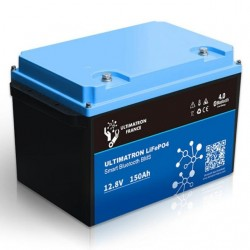 Batterie Lithium Ultimatron  12V-150Ah LiFePO4 Fer-phosphate BMS 12.8V Bluetooth 4.0
