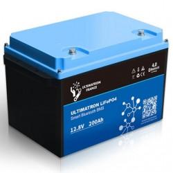 Batterie Lithium Ultimatron 12V-200Ah LiFePO4 Fer-phosphate BMS 12.8V Bluetooth 4.0