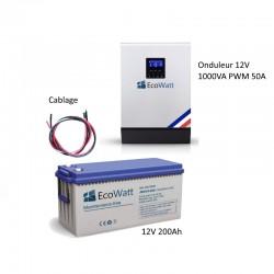 Kit UPS 230V anti-coupure EDF 1KVA capacité 2.4KWh