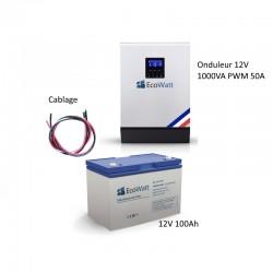 Kit UPS 230V anti-coupure 1KVA capacité 1.2KWh
