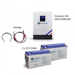 Kit UPS 230V anti-coupure EDF 3KVA capacité 3.6KWh