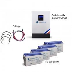 Kit UPS 230V anti-coupure EDF 5KVA capacité 7.2KWh