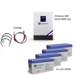 Kit UPS 230V anti-coupure EDF 5KVA capacité 9.6KWh