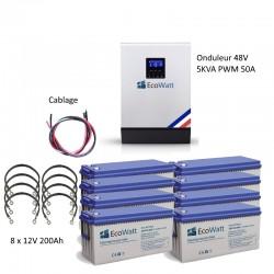 Kit UPS 230V anti-coupure EDF 5KVA capacité 19.2KWh