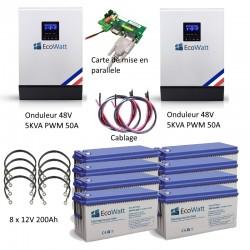 Kit UPS 230V anti-coupure EDF 10KVA capacité 19.2KWh