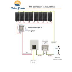 KIT SOLAIRE AUTOCONSOMMATION RESEAU 2960 WATTS 8 PANNEAUX RECOM 370W - 230V + ONDULEUR SOLAX