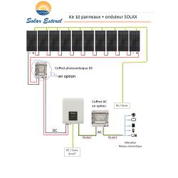 KIT SOLAIRE AUTOCONSOMMATION RESEAU 3700 WATTS 10 PANNEAUX RECOM 370W - 230V + ONDULEUR SOLAX AIR