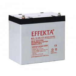 Batterie AGM 45Ah 12V Effekta BTL 12-45