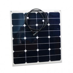 Panneau solaire flexible monocristallin 12V 55W Back Contact Sun Power
