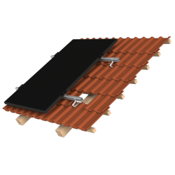 Support de montage en surimposition toiture K2 systems 4 panneaux - Mode portrait
