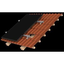 Support de montage en surimposition toiture K2 systems 8 panneaux - Mode portrait