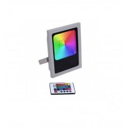 Projecteur LED 100W RGB Multicolore IP65