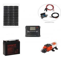 Kit pompe solaire 12V pour bassin ou irrigation Seaflo 5L/min