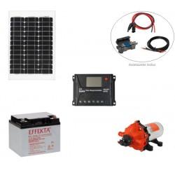 Kit pompe solaire 12V pour bassin ou irrigation Seaflo 15L/min