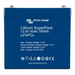 Batterie Lithium 60Ah 12V Superpack Victron BMS intégré