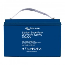 Batterie Lithium 50Ah 24V Superpack Victron BMS intégré