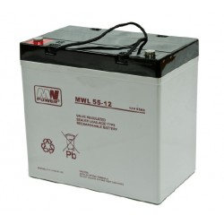 Lot de 4 batteries AGM 55Ah 12V MWL 55-12